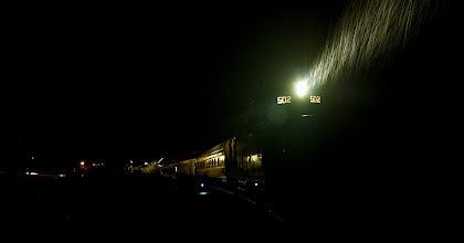 Photo: Into the Rainy Night | Preparing to leave Frostburg, MD on the Western Maryland Scenic Railroad © 2011 Ryan Lynham