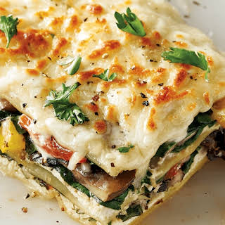 White Vegetarian Lasagna.