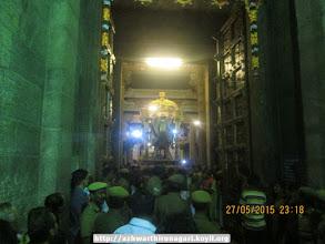 Photo: nammAzhwAr in hamsa vAhanam (facing perumAL) - night 9 garuda sEvai