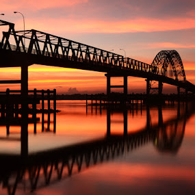 Indragiri Bridge... by M Fathra  Nazrul Islam - Landscapes Waterscapes