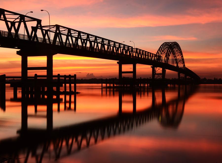 Indragiri Bridge... by M Fathra  Nazrul Islam - Landscapes Waterscapes
