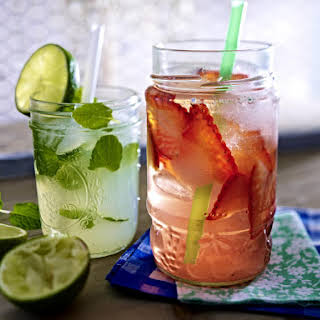 Strawberry and Minted Lime Punch.