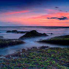 Peacefull Day by Frans Widi - Landscapes Sunsets & Sunrises ( sunset, rock )
