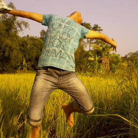Ready for a Jump by Amartya SKk - People Street & Candids ( jump, fields )