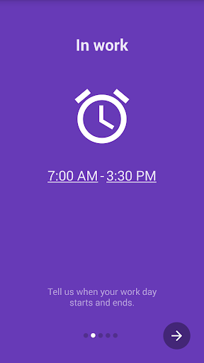 Work time manage shift hours