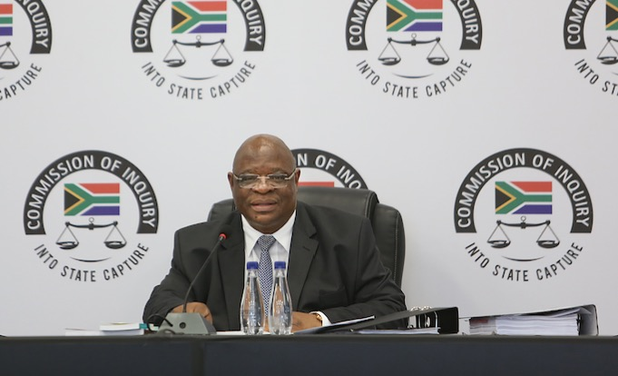 Judge Zondo hears evidence at the state capture inquiry. File photo.