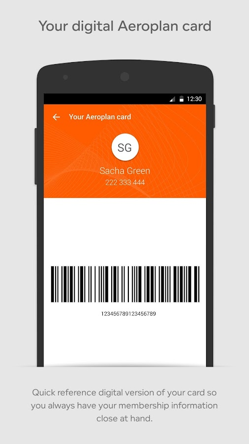 Aeroplan- screenshot