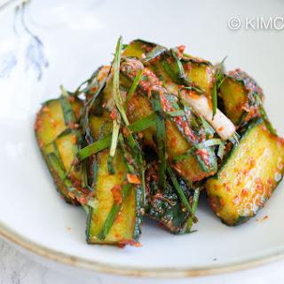 Cucumber Kimchi (Oi Kimchi).