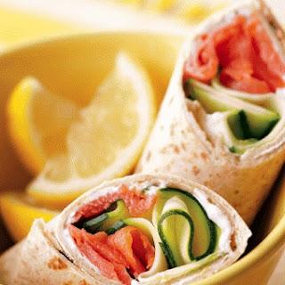 Smoked Salmon Breakfast Wraps