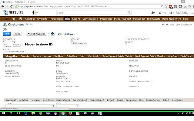 NetSuite: Show Field IDs