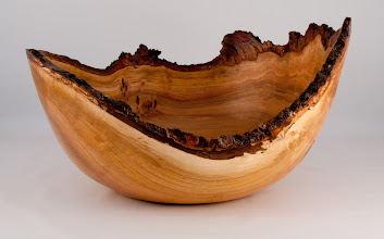 "Photo: Bob Grudberg - 14"" x 8"" natural-edged bowl [cherry]"