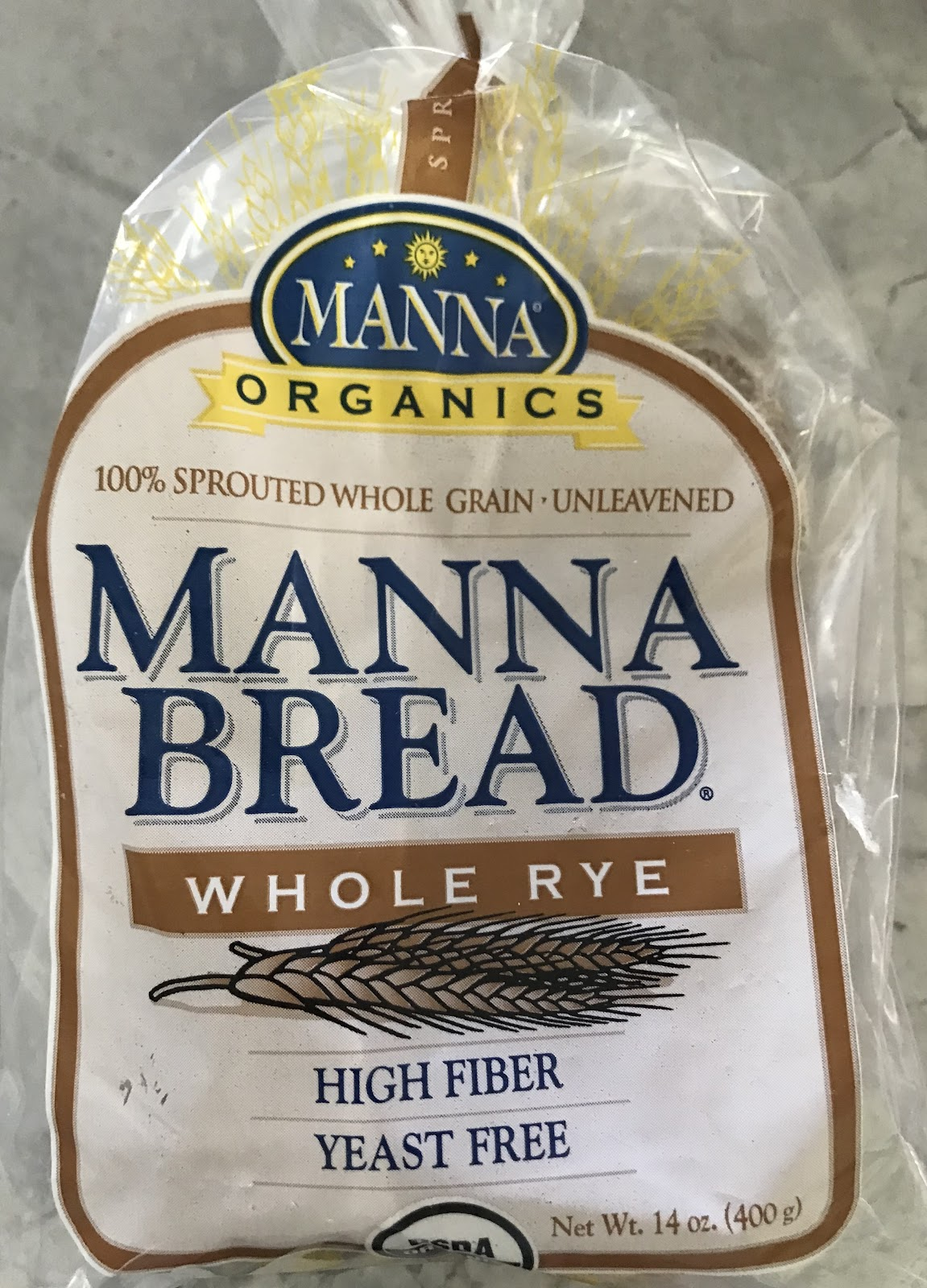 This is an example of 100% sprouted, unleavened bread.