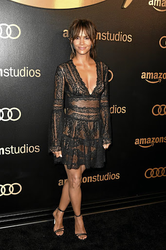 Actress Halle Berry in black to support the #MeToo protest