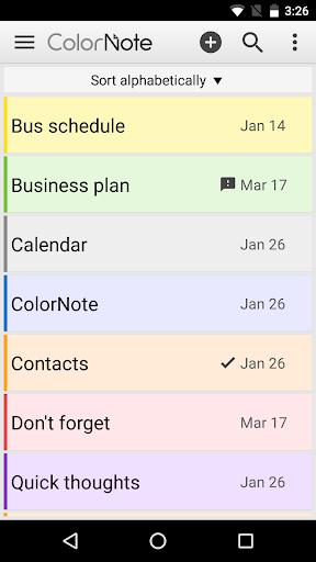 ColorNote Notepad Notes 4.0.7 screenshots 1