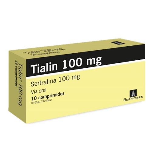 Sertralina Tialin 100 Mg X 10 Comprimidos Roemmers 100 mg x 10 Comprimidos