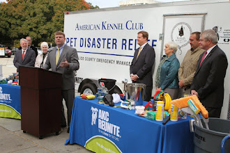 Photo: Ellis Boyle (Deputy Secretary, Dept. of Agriculture) speaks during the presentation.  Credit: Robert Young (c) American Kennel Club