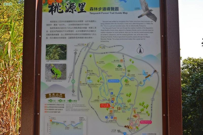 桃源里森林步道導覽圖