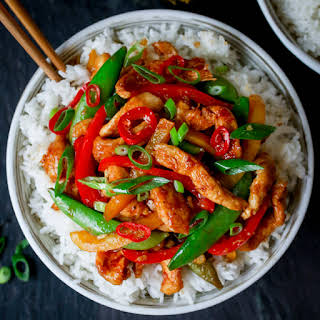 Quick Chicken Stir Fry (without the shop-bought stir fry sauce!).