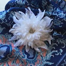 Photo: Цветок из ткани - брошь на платье