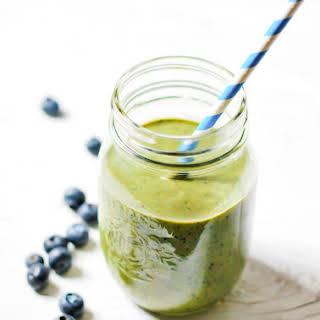 Blueberry Green Tea Smoothie.