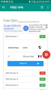 Free VPN & SSH apk para crear servidores ssh para internet gratis VIP