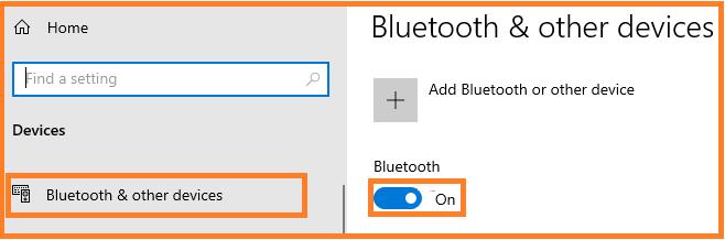 Fix Bluetooth Issues on Windows 10 via settings.