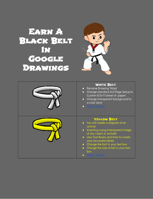 Earn a BlackBelt In Google Drawings