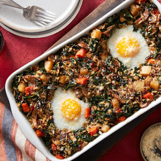 With Baked Eggs & Kale Recipe