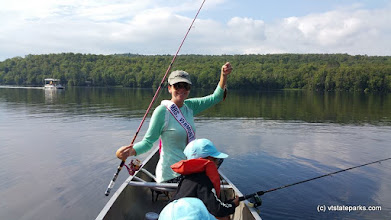 Photo: Mrs Vermont caught s teeny fish at Ricker Pond State Park