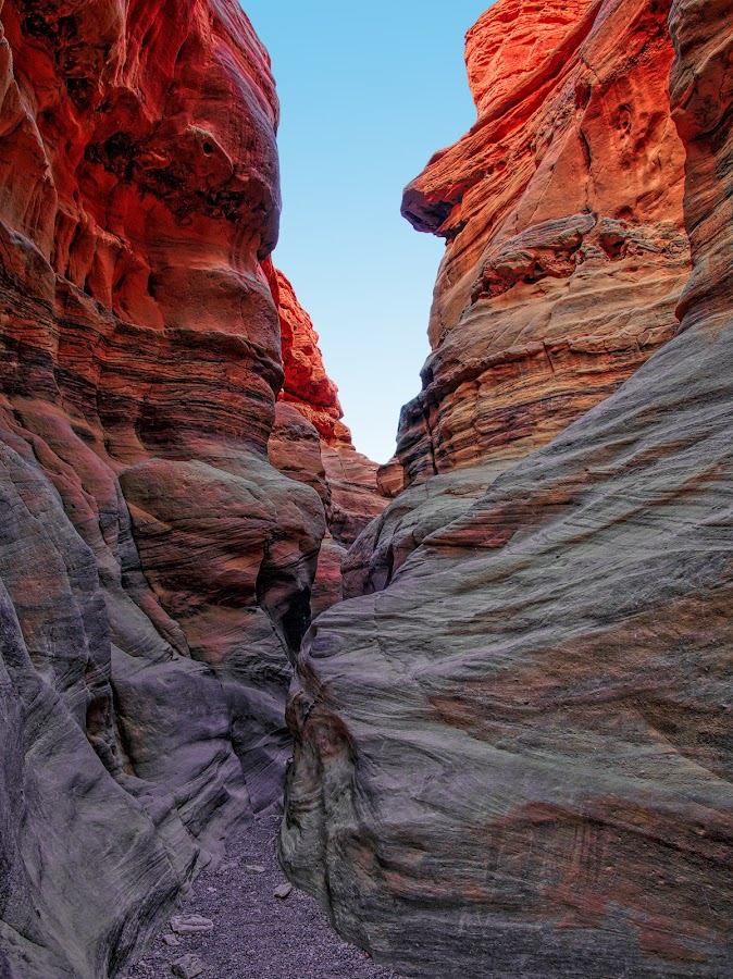 Red Canyon, Israel by Henry Jager - Landscapes Deserts ( jager, sand, climb, desert, negev, canyon, sandstone, stone, rock, travel, israel, sunlight, conartix, eilat, red, henry, path, surreal, wall, journalist,  )
