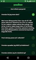 Screenshot of YouSee Mobil