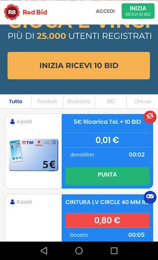 Red bidd - Aste Online  screenshots 1