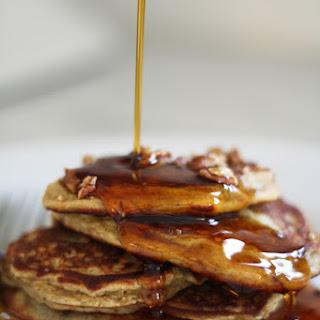 Maple Pecan Protein Pancakes.