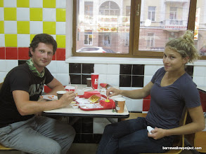 Photo: Breakfast at Royal Burger on my last morning in Vladivostok...because coffee shops don't open until 10am