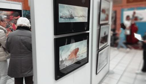 60 Salon d'art Veneux les Sablons_ 2018_aquarelles Jeanne PAPA
