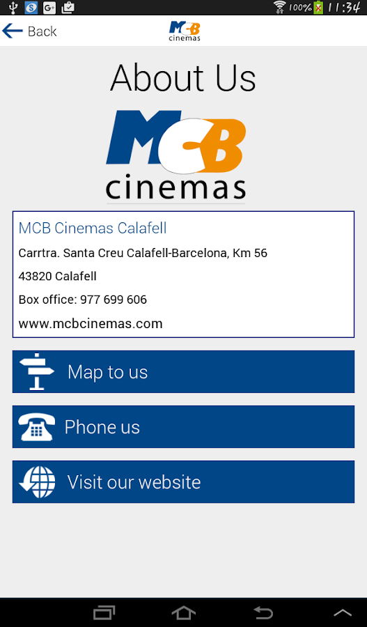 MCB Cinemas- screenshot