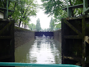 Photo: One of several double locks that we pass through.