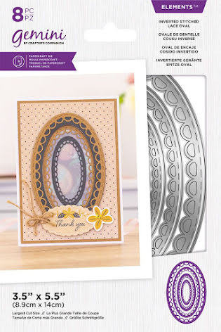Gemini Elements Die - Inverted Stitched Lace Oval