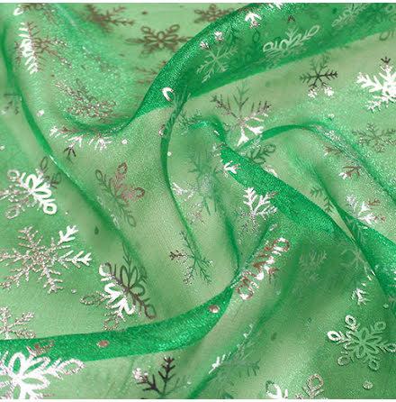 Snöstjärna Kristallorganza - grön