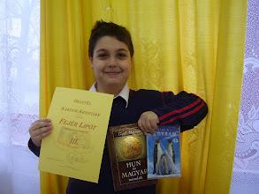 Fotó: Fejér Lipót matematikaverseny kerületi forduló: 3. hely Kakucsi Krisztián 5. b