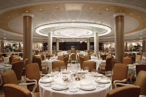 Expect world-class dining at sea in the Grand Dining Room on Oceania Cruises.