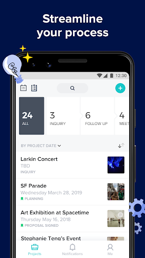 Screenshot for HoneyBook in United States Play Store