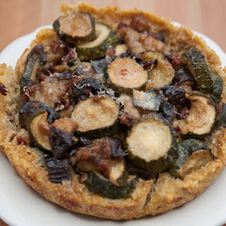Eggplant with Quinoa Quiche and Zucchini