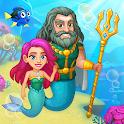 Aquarium Farm: fish town, Mermaid love story shark icon