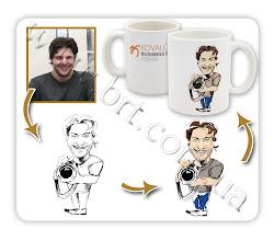 Photo: Дизайн и изготовление чашки для чая с дружеским шаржем.  Заказчик: Kovalchuk Business-Direct Center™