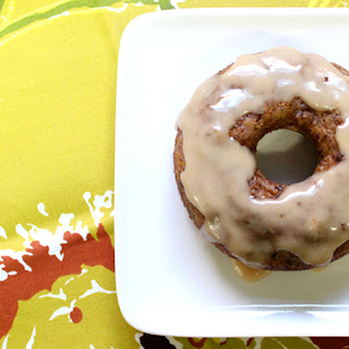 Pumpkin Pie Donuts with Maple Glaze