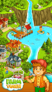 Farm Town: Happy farming Day & food farm game City
