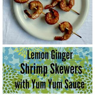 Lemon Ginger Shrimp Skewers with Yum Yum Sauce