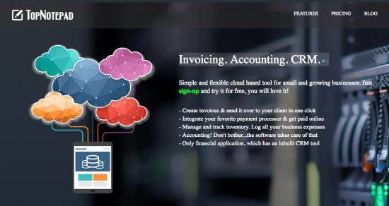 TopNotepad - Best cloud invoicing, accounting and CRM solution for freelancers and SMBs : eAskme