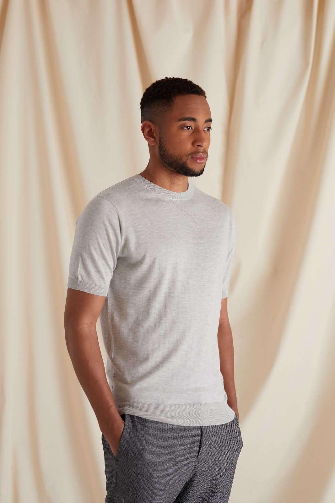 Man Fine Knit T-shirt